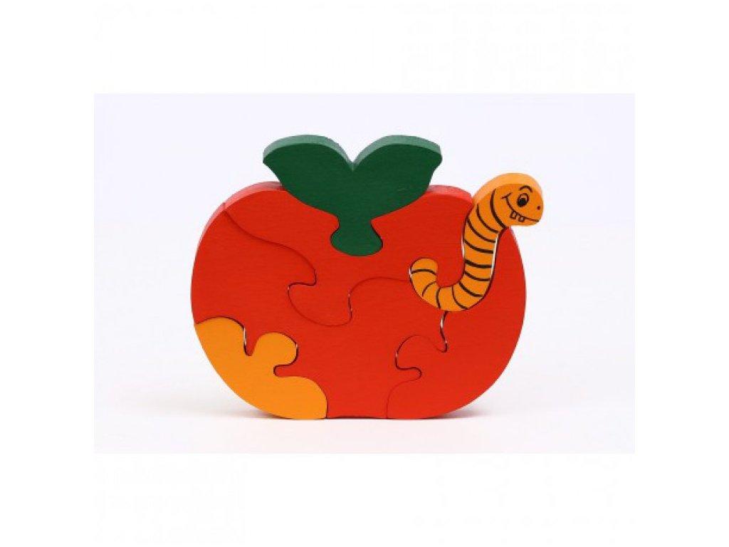 Dřevěné puzzle - jablíčko
