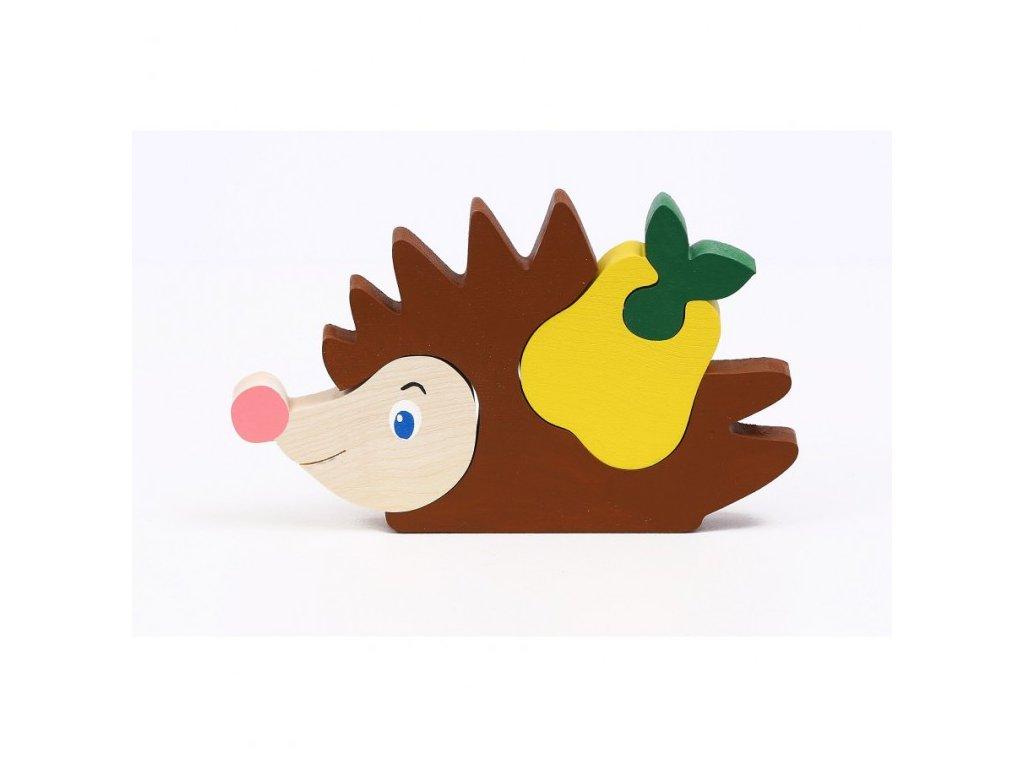 Dřevěné puzzle - ježek