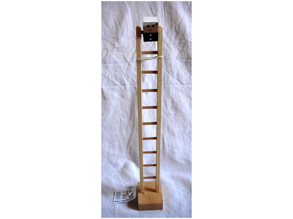 Kominíček dřevěný na žebříku
