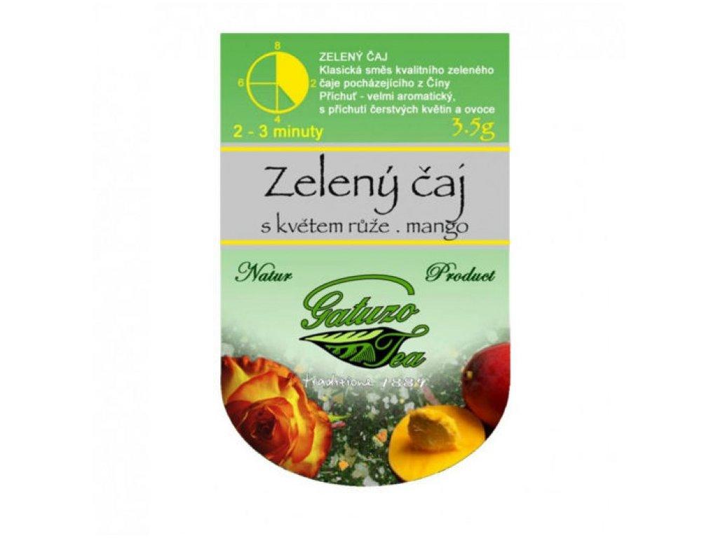 Čaj Gatuzo - Zelený s růží a mangem 1 ks
