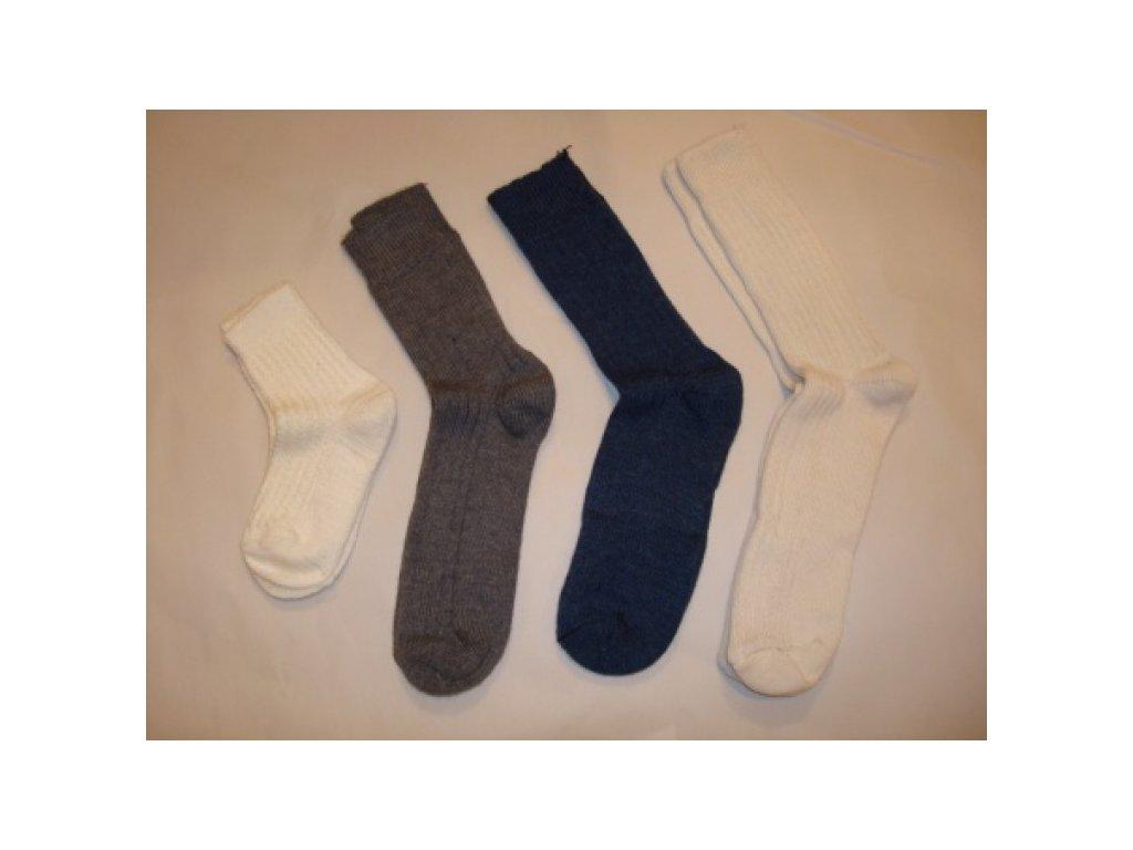 Ponožky vzor žebro vlna