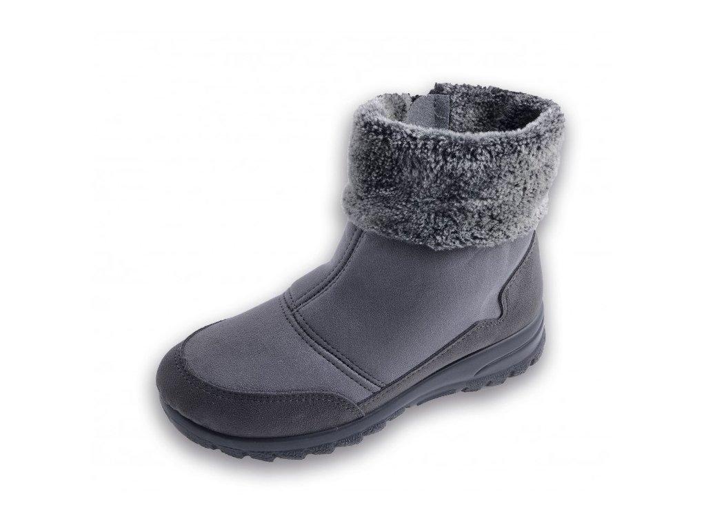 Boty dámské zimní šedé ROGALLO