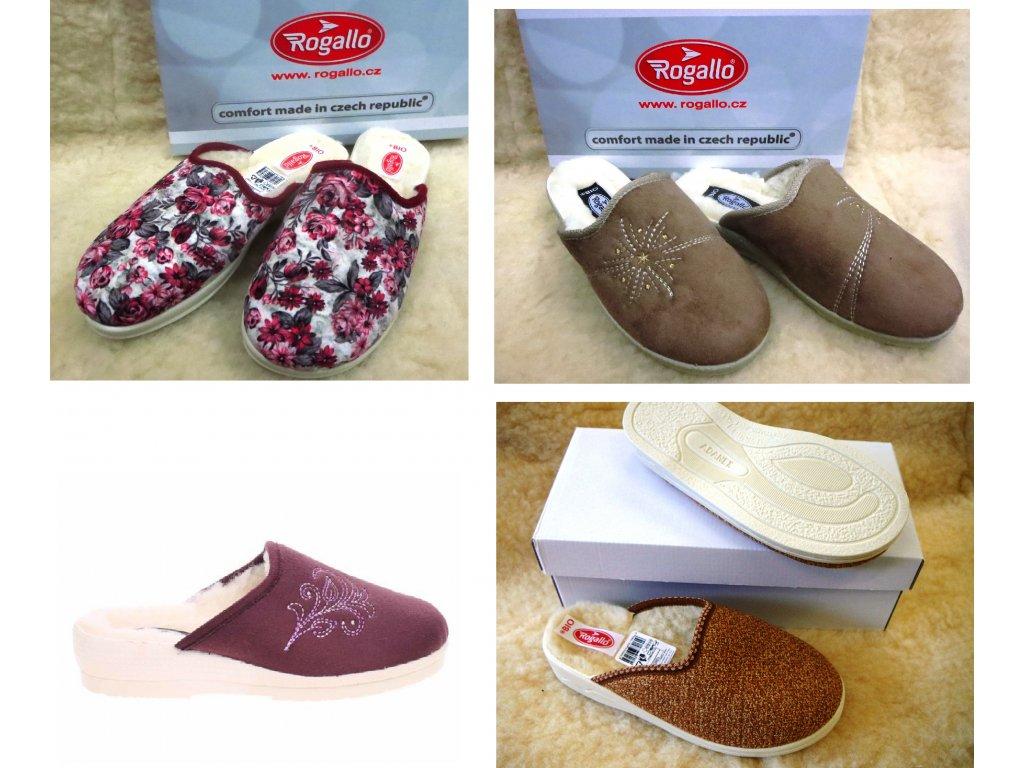 Pantofle dámské zateplené ROGALLO