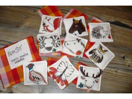 Textilní pexeso - lesní zvířátka