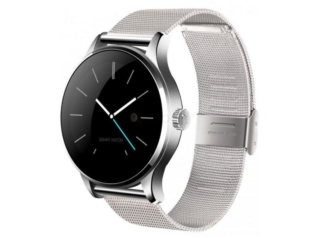 3821ebaa6 Elegantné smart hodinky K88h strieborné - dynamicshop