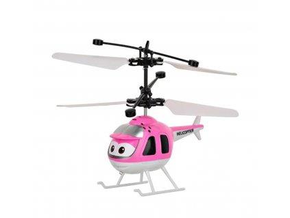 mini vrtulnik ruzovy