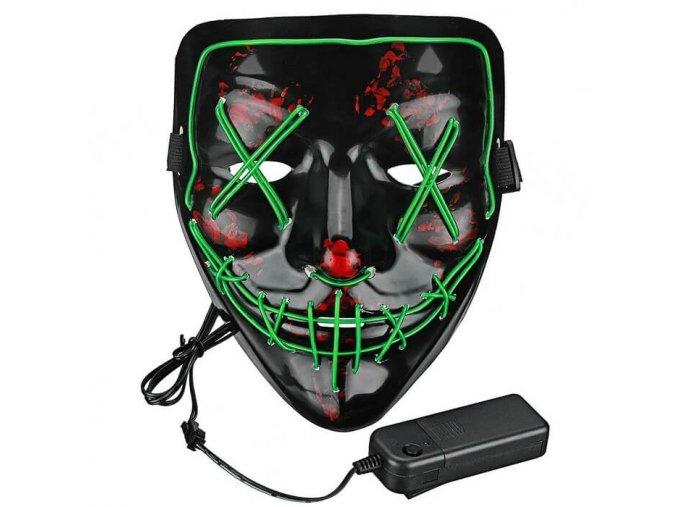 halloweenska maska purge zelena5 dynamicshop.sk
