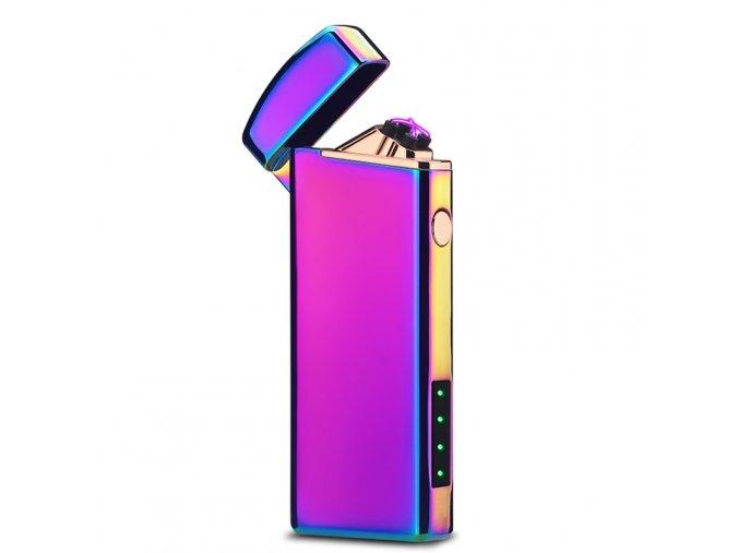 plazmový zapalovac compact fialovy