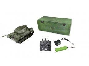 Tank T34/85 BB 2,4Ghz 1:16 s dreveným kufrom