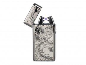 Fren Plazmový zapalovač USB Strieborný drak