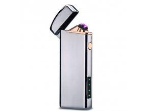 plazmovy zapalovac compact strieborny