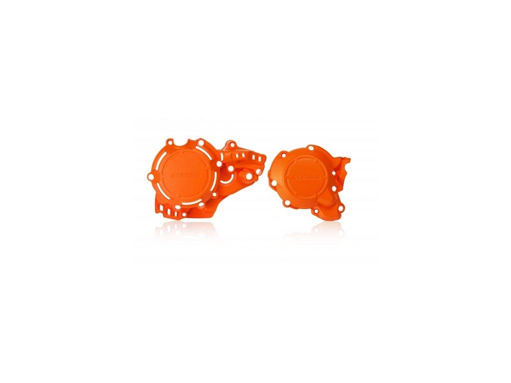ACERBIS X-POWER KIT sada ochrany vík motoru - oranžová KTM Husqvarna