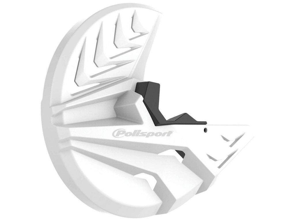 Kryt předního brzdového kotouče POLISPORT se spodním krytem vidlice, bílý KTM Husqvarna