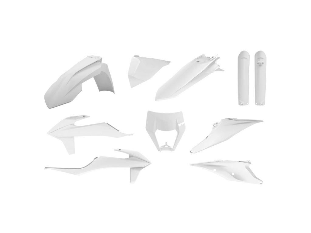 Sada plastů Polisport KTM bílá