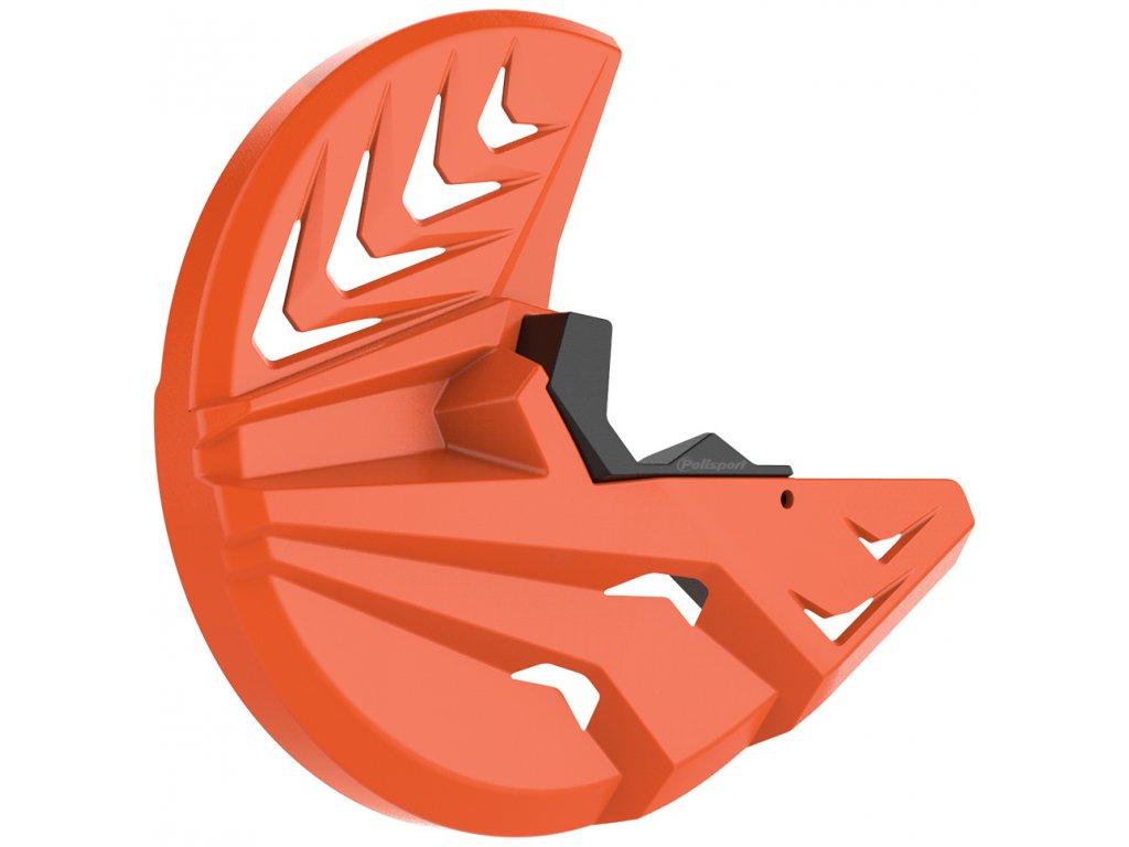 Kryt předního brzdového kotouče POLISPORT se spodním krytem vidlice, oranžový KTM