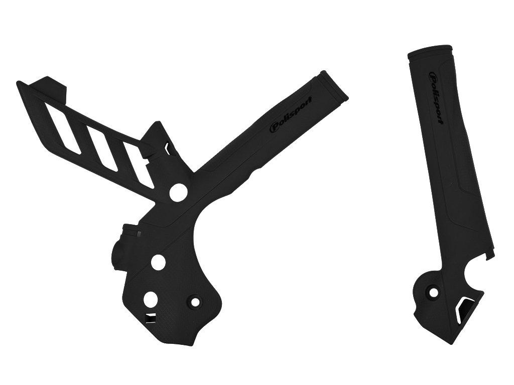 Kryty rámu černé Polisport KTM