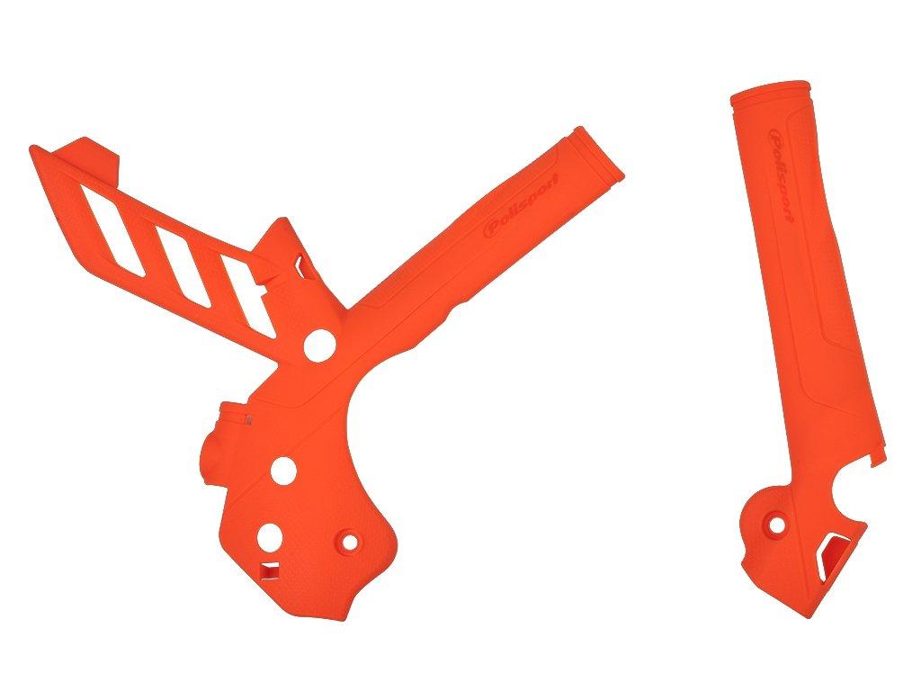 Kryty rámu oranžové Polisport KTM
