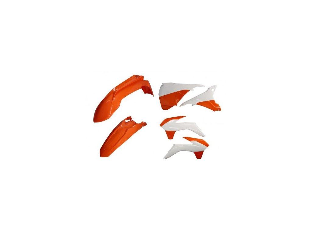 Sada plastů POLISPORT KTM oranžovo-bílá