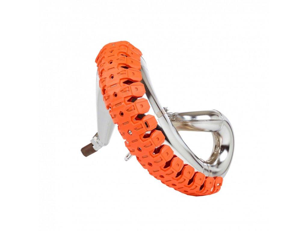 Kryt kolena výfuku 2T Polisport oranžový univerzální