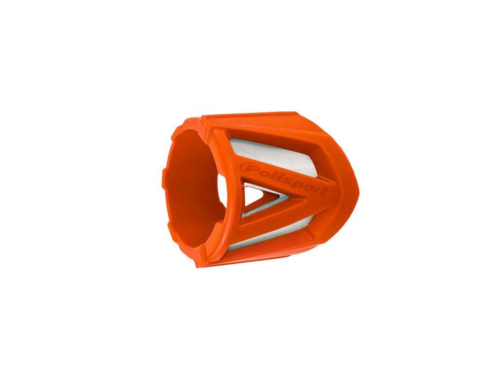 Kryt koncovky výfuku 30-40cm Polisport univerzální oranžový