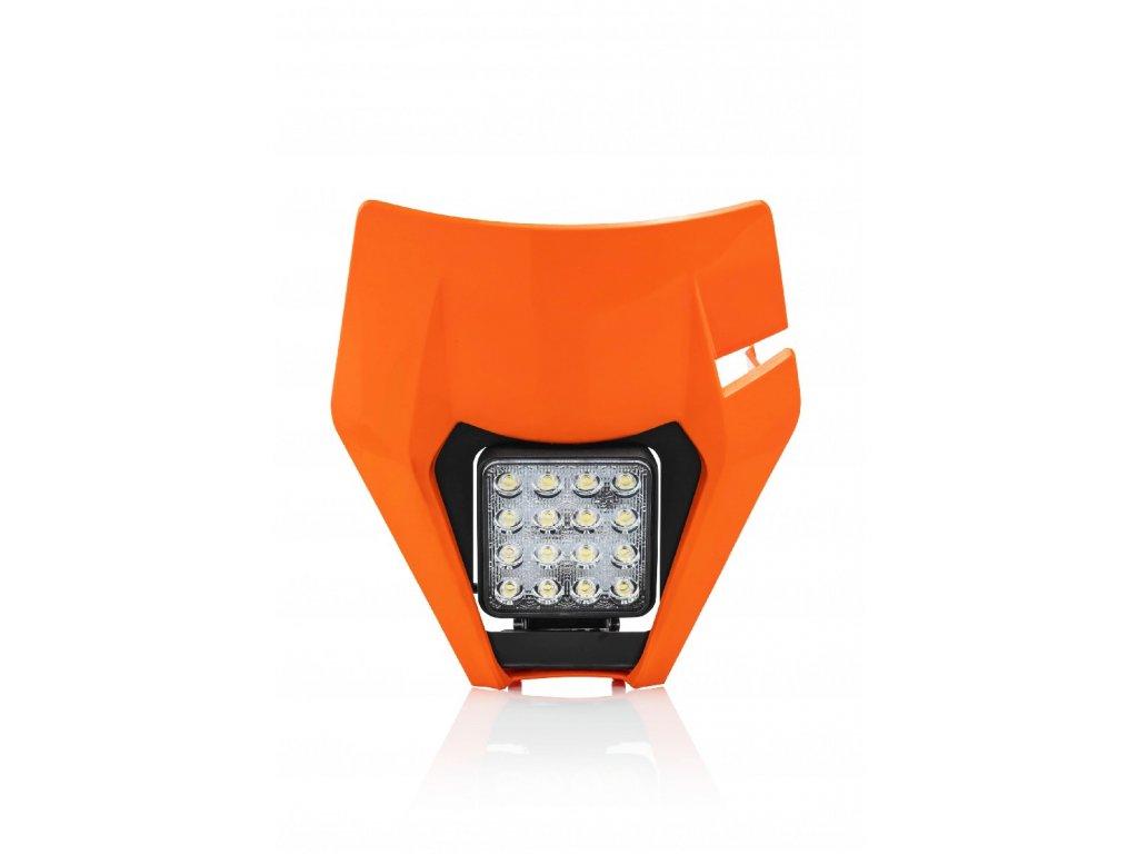 LED přední světlo s maskou ACERBIS KTM, oranžové