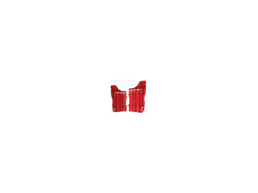 Kryty chladičů Polisport Honda, červené