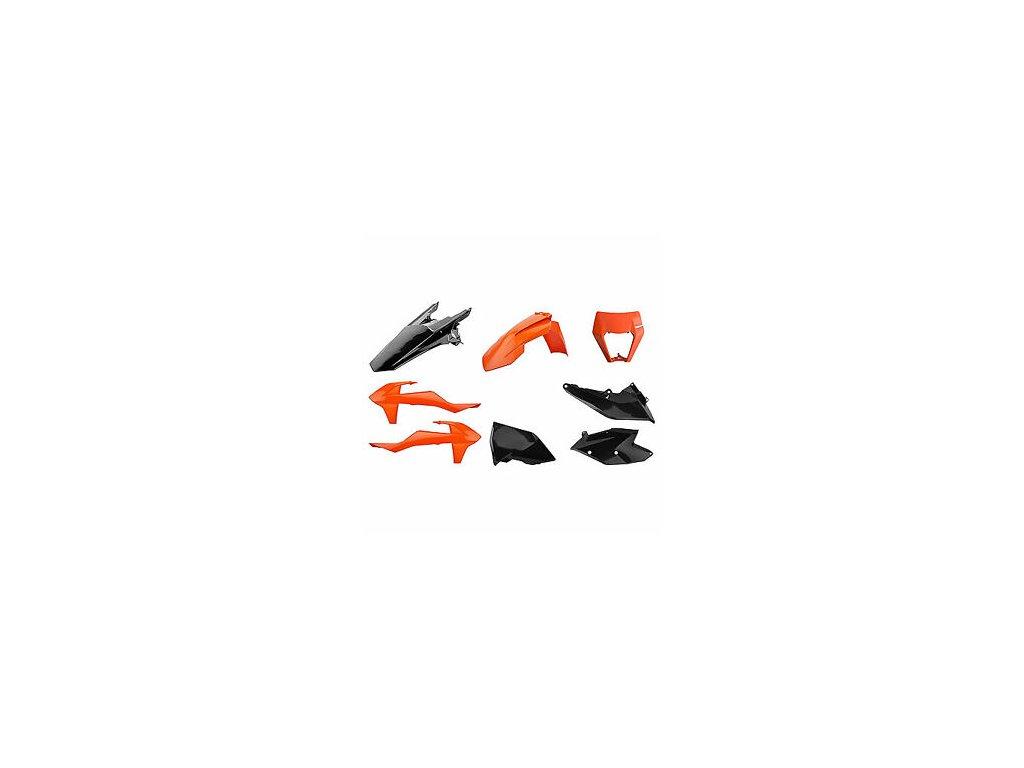 Sada plastů Polisport KTM oranžová/černá