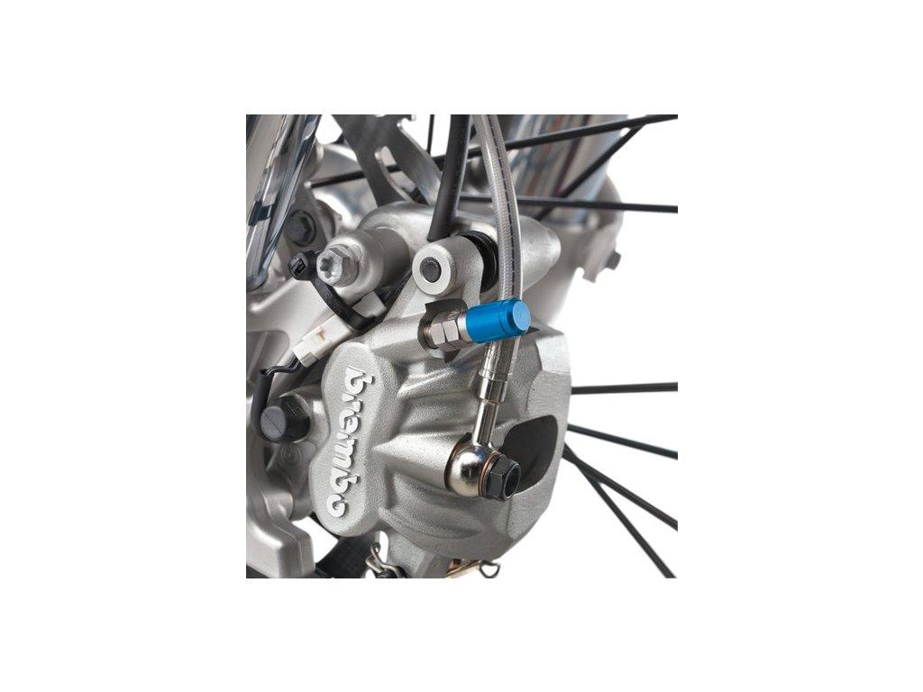 Odvzdušňovací šroub brzdiče s CNC čepičkou