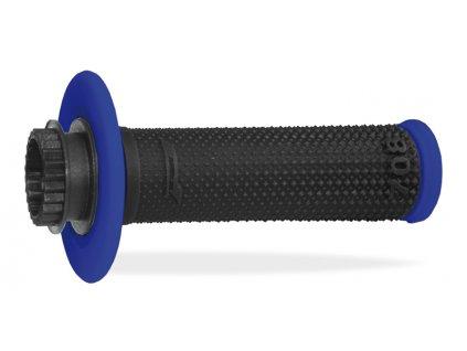 Gripy PROGRIP 708 OFFROAD SINGLE DENSITY LOCK ON GRIPS BLUE/BLACK