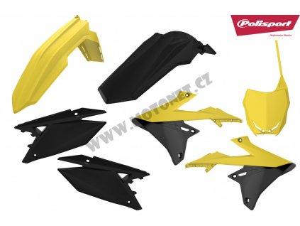 Sada plastů Polisport Suzuki černo-žlutá