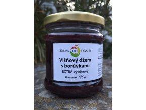Višňový džem s borůvkami