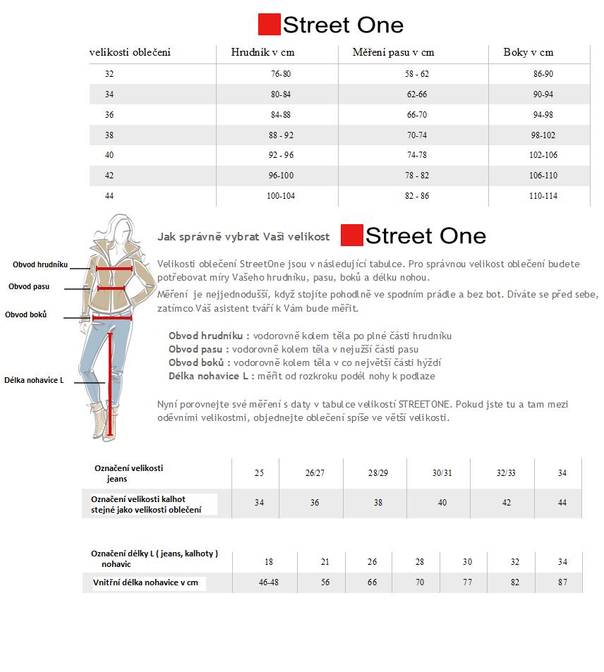 StreetOne-veľkosti