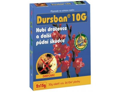 Dursban 10 G (15 g) - půdní škůdci - ukončen prodej