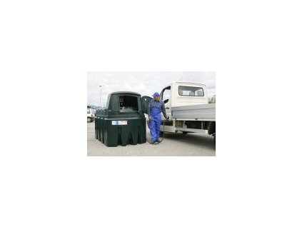 Nadzemní dvouplášťová nádrž na motorovou naftu FuelMaster® 2500 l digi průtokoměr