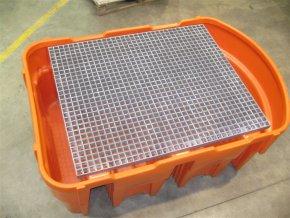 Rošt pro IBC záchytnou vanu (maximální nosnost 1400 kg)