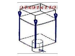 Velkoobjemový vak - Big Bag 91x91x160 typ zástěra