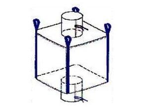 Velkoobjemový vak - Big Bag 95x95x200 cm (výsyp - násyp- nohavice)
