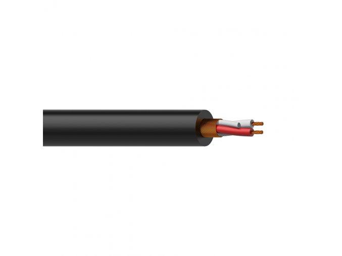 PROCAB MC305/1 Symetrický mikrofonní kabel 2 x 0.23 mm², 100m, černý
