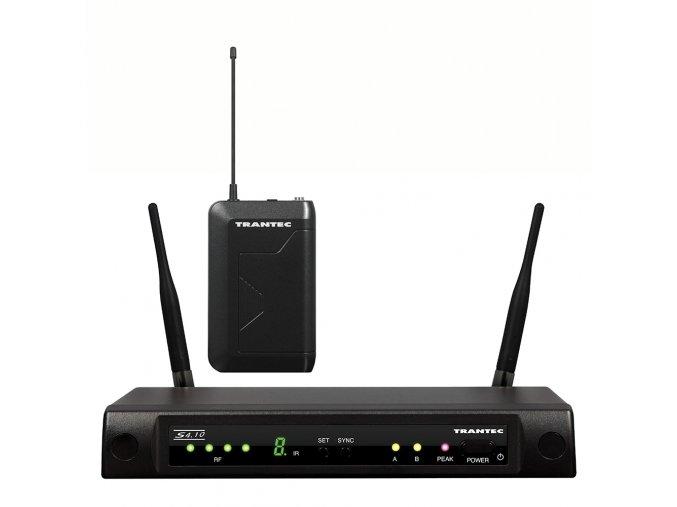 TRANTEC S4.10-B-EB G3 Bezdrátový mikrofonní set s kapesním vysílačem, diverzitní, 16 kanálů