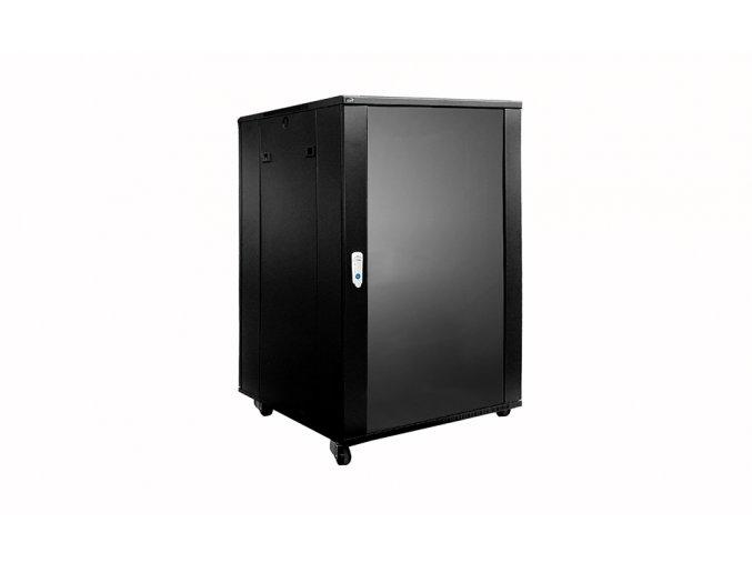 CAYMON SPR618 Stojanový rozvaděč 18HU, 600x600mm, barva černá