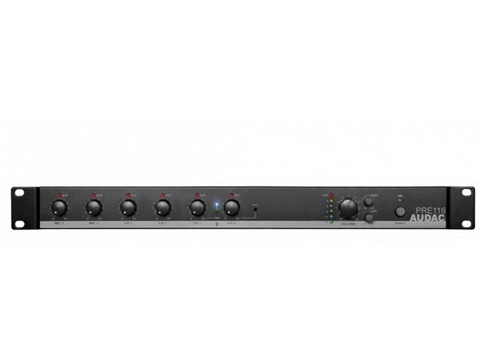AUDAC PRE116 Stereofonní předzesilovač 6kanálový