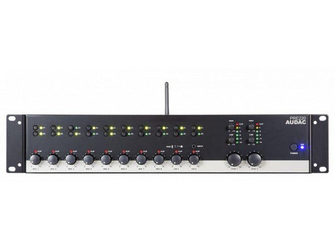 AUDAC PRE220 Stereofonní předzesilovač 10kanálový 2zónový