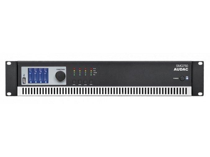 AUDAC SMQ750 Koncový zesilovač 4 x 750W RMS @ 4 ohmů, digitální topologie Class-D