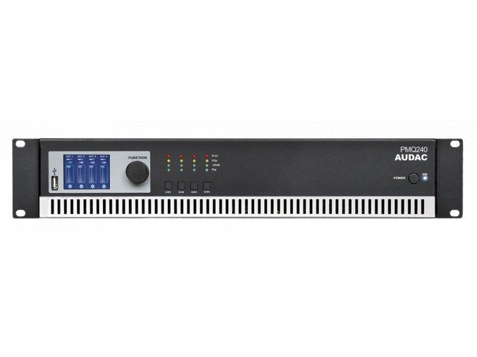 AUDAC PMQ240 Koncový zesilovač 4 x 240W RMS @ 100V, digitální topologie Class-D