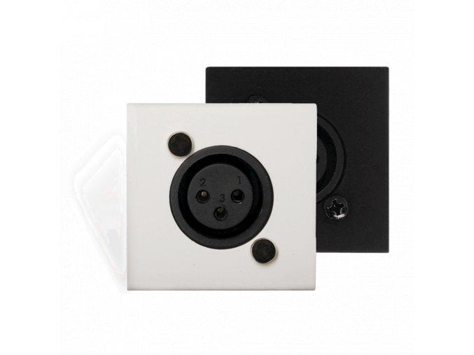 AUDAC WMI18/B Aktivní nástěnný přípojný panel, černý