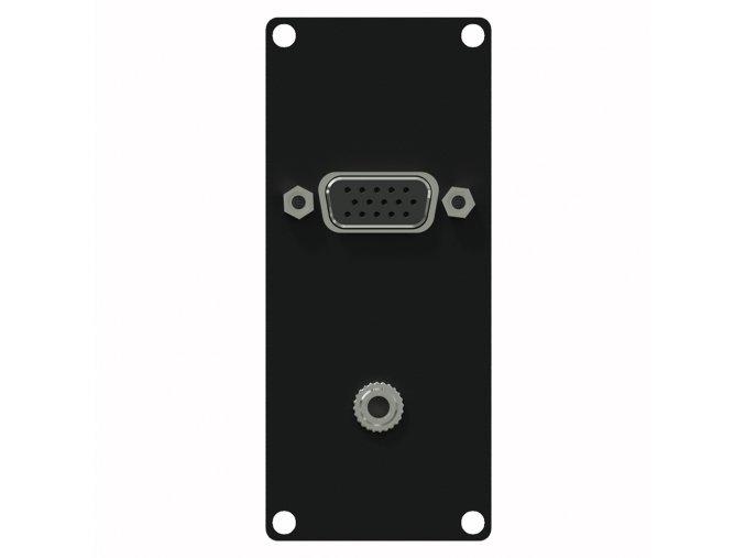 CAYMON CASY151/B Konektorový modul 1U VGA & 3.5mm female jack  černý