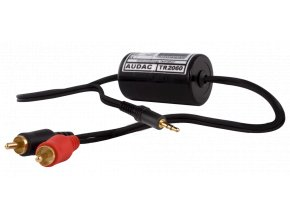 AUDAC TR2060 Stereo groundloop isolator RCA male, 3.5mm jack