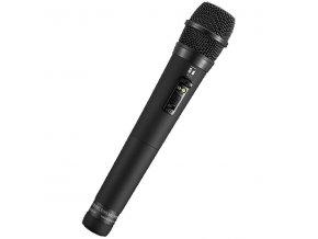 TOA WM-5265 G01 Ruční bezdrátový dynamický mikrofon, směrový, 64 volitelných kanálů v pásmu 606-636MHz, vypínač, 2x LED
