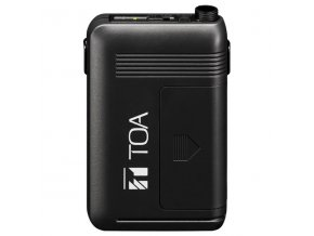 TOA WM-5325 G01 Vysílač kapesní bezdrátového mikrofonu, 64 volitelných kanálů v pásmu 606-636MHz, vypínač