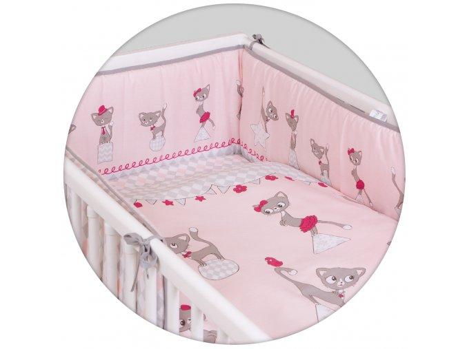 Ceba 3 dílné povlečení Kočičky růžové 135x100 40x60